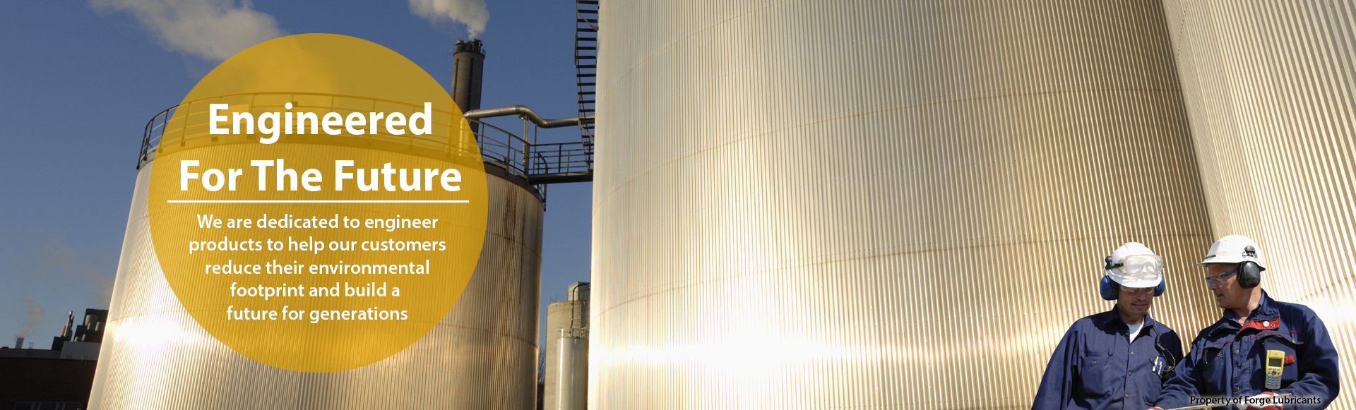 Forge Lubricants Oil Silo Banner
